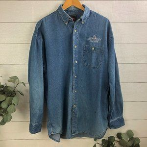 Vintage Wrangler Hero Men's Large Button Down